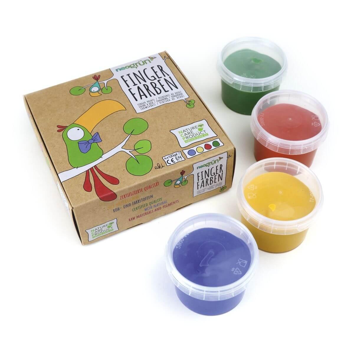 Bio-Fingerfarben Set Aki