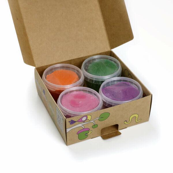 Easy-Knete von neogrün im Set, natürlich, unbedenklich, ohne Azofarbstoffe, ohne Alaun, ohne Parabene - vegan und umweltfreundlich - Bio zertifiziert