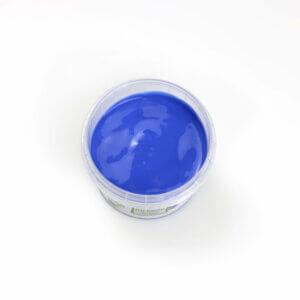 Blaue Fingerfarbe aus natürlichen Rohstoffen von neogrün. Sicher, ohne Azofarbstoffe, ohne Parabene, ohne Petrochemikalien