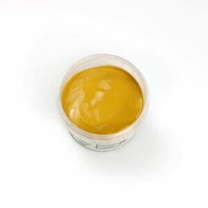 Gelbe Fingerfarbe aus natürlichen Rohstoffen von neogrün. Sicher, ohne Azofarbstoffe, ohne Parabene, ohne Petrochemikalien