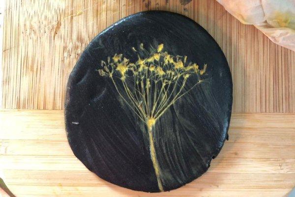 Abruck einer Pflanze in natürlicher neogrün Knete