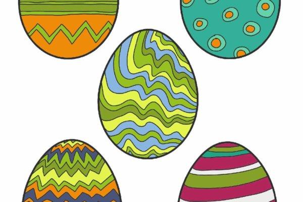 Bastelvorlage zu Ostern zum Ausschneiden