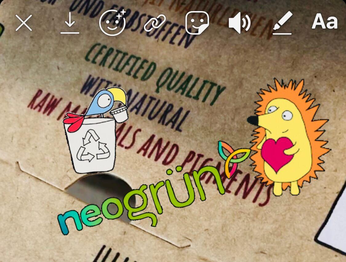 neogrün Instagram-Sticker